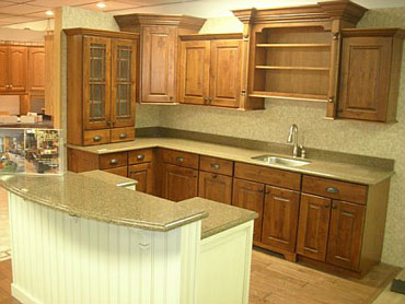 Kitchen Cabinet Display At Suburban Building Center In St Marys Pa 15857